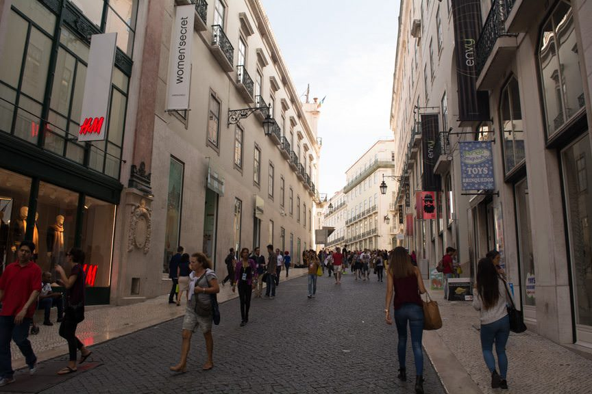 This afternoon, I took the opportunity to stroll Lisbon's shopping district in search of new cologne...Photo © 2015 Aaron Saunders