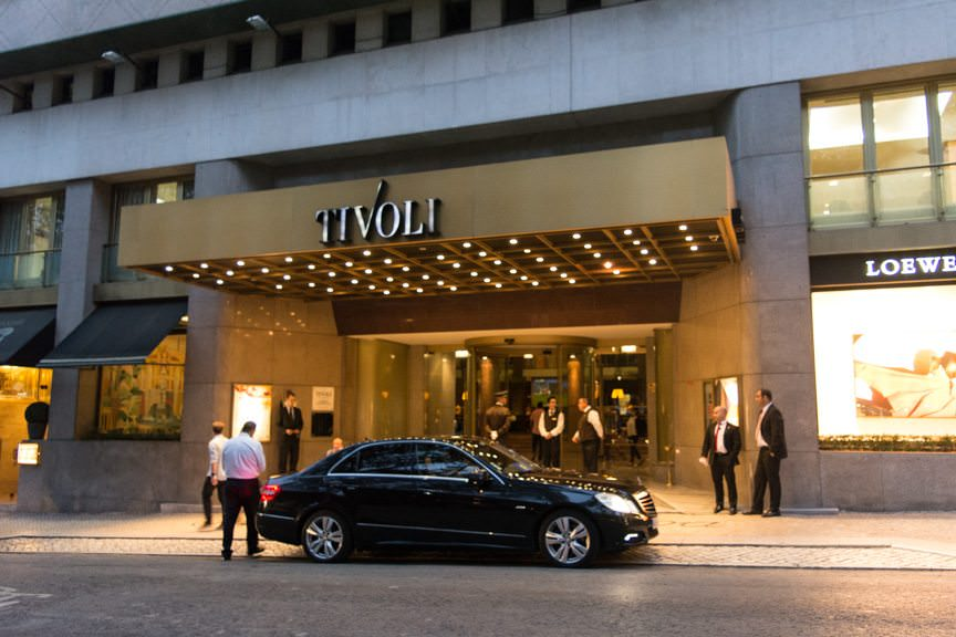 This evening, most guests departed the Hotel Tivoli...Photo © 2015 Aaron Saunders
