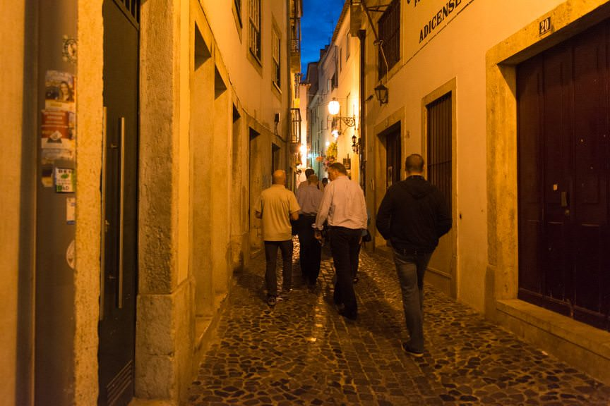 ...before we set out along the narrow streets for our evening out on the town. Photo © 2015 Aaron Saunders