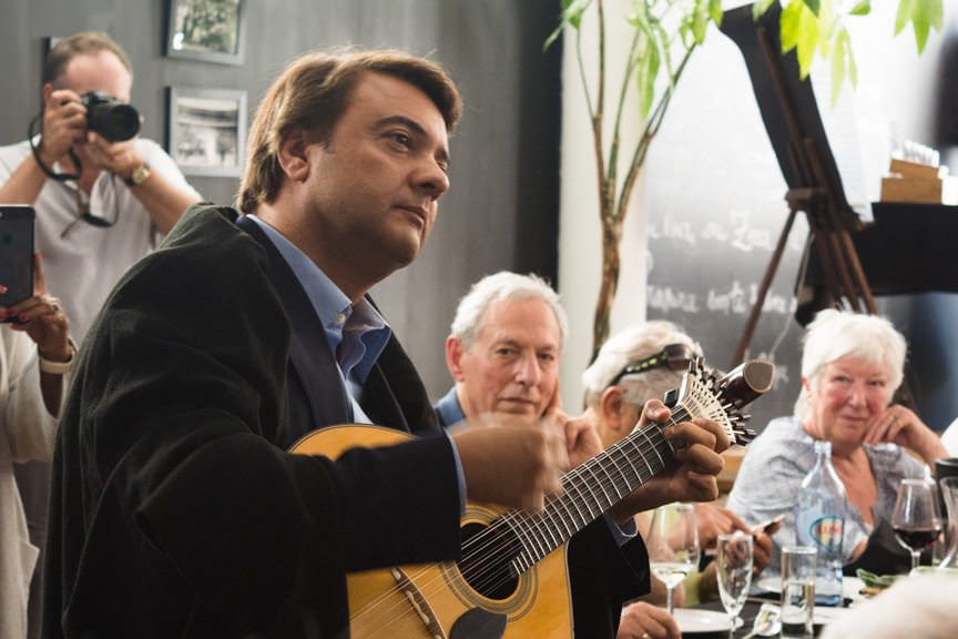 At lunch, a magnificent Fado performance serenaded us while we enjoyed one of the best meals so far this trip. Photo © 2015 Aaron Saunders