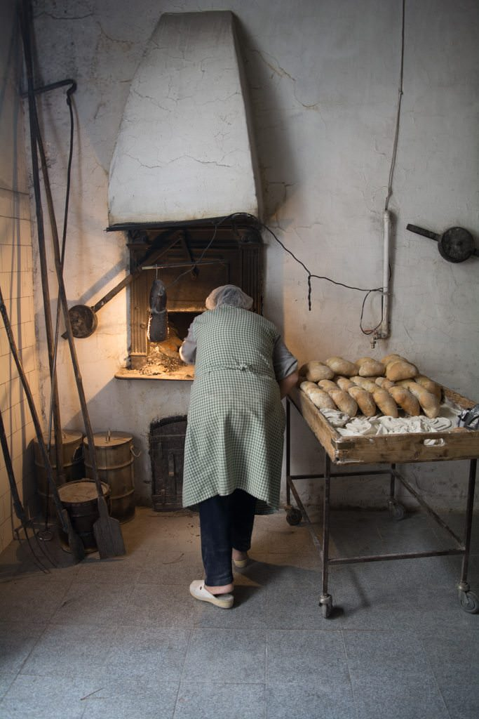 Here, we had the chance to see how bread is made in the traditional way...Photo © 2015 Aaron Saunders