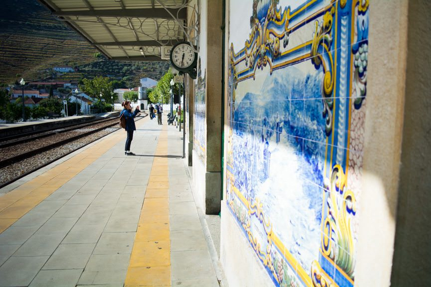 Murals on the Pinhao Train Station. Photo © 2015 Aaron Saunders