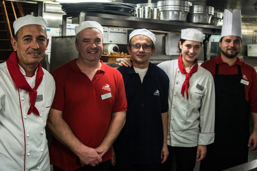 Some of Viking Torgil's fabulous galley staff. Photo © 2015 Aaron Saunders