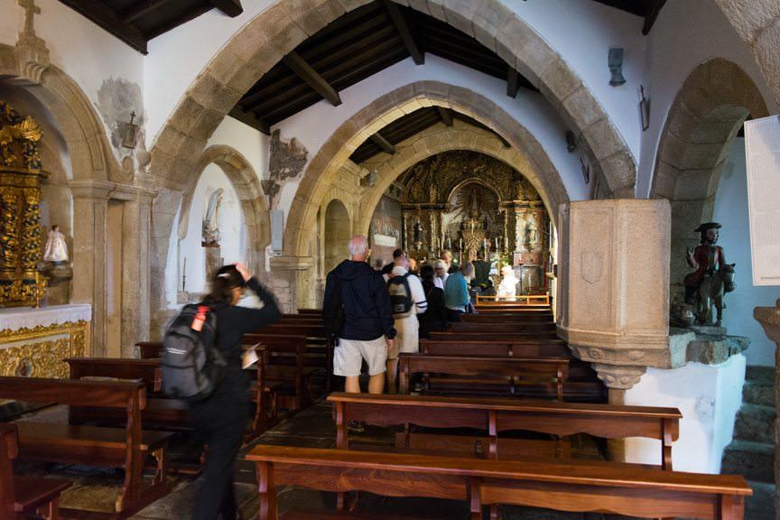 Inside Castelo Rodrigo's medieval cathedral. Photo © 2015 Aaron Saunders