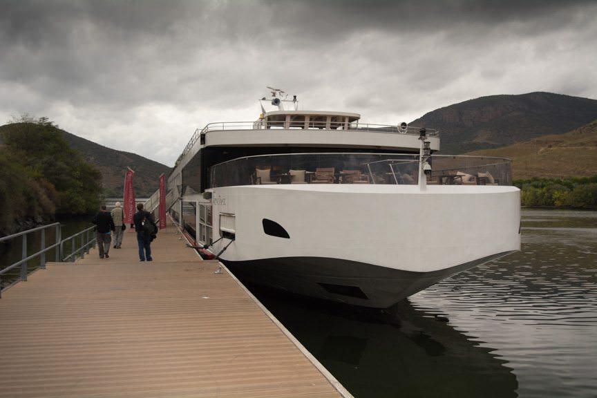 Viking River Cruises' Viking Torgil at her Barca d'Alva Berth in Portugal today. Photo © 2015 Aaron Saunders