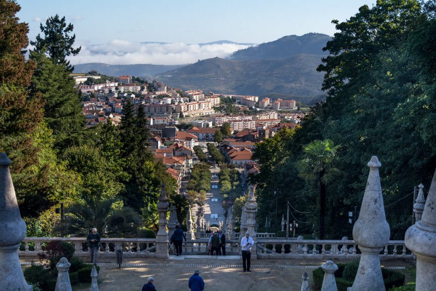 ...is perched high above the town of Lamego. Photo © 2015 Aaron Saunders