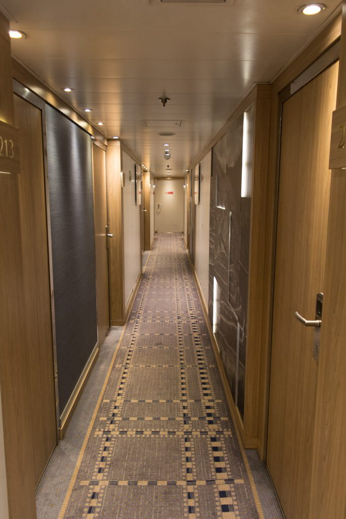 Stateroom corridors aboard Viking Torgil and Viking Hemming actually give their larger Viking Longship counterparts a run for their money. Photo © 2015 Aaron Saunders