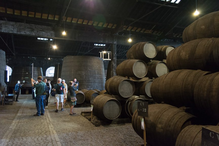 We also stopped back in Gaia for a port wine tasting. Photo © 2015 Aaron Saunders