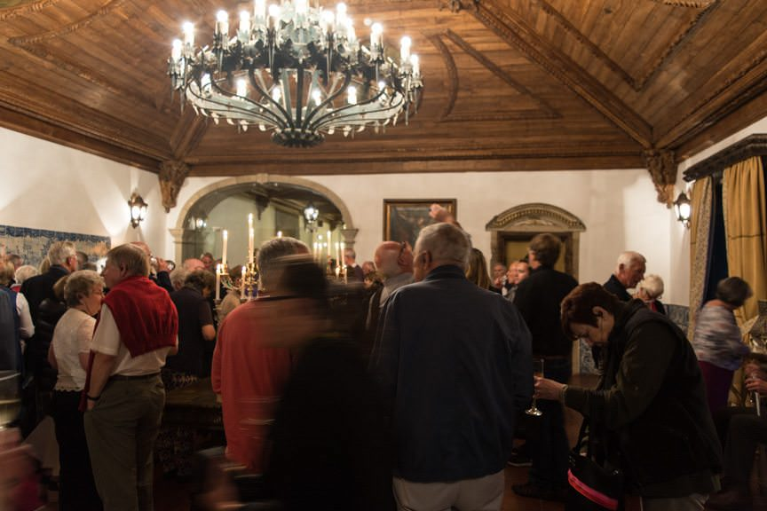 Guests were treated to cocktails and a comprehensive tour of the monastery...Photo © 2015 Aaron Saunders