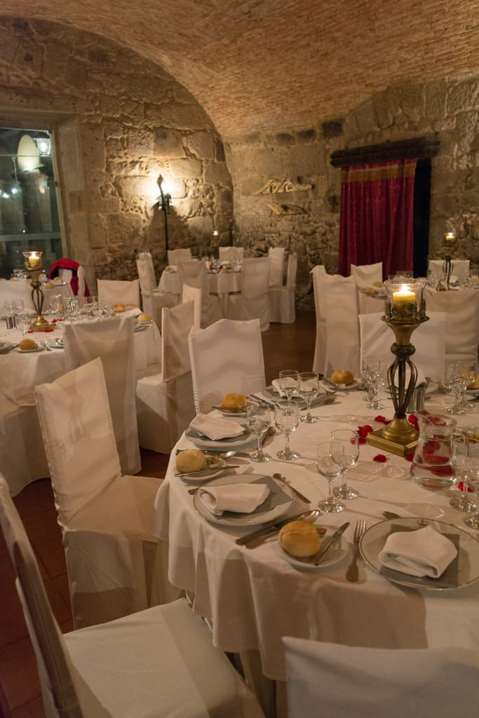 ...before beginning a fantastic dinner in the Monastery's cellar. Photo © 2015 Aaron Saunders