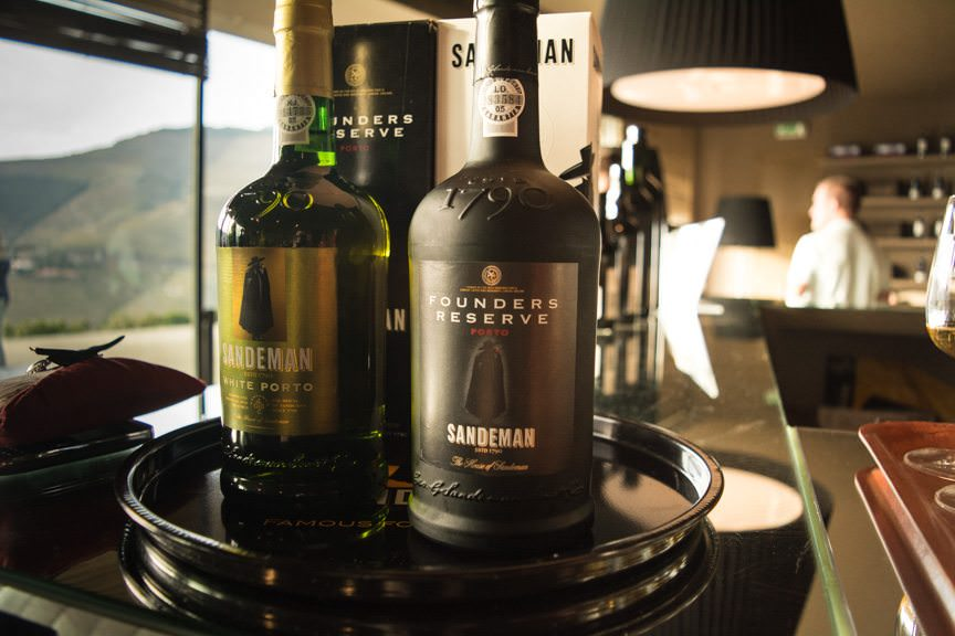 We were invited to sample two of Sandeman's port wines: a white one, and their Founder's Reserve. Photo © 2015 Aaron Saunders