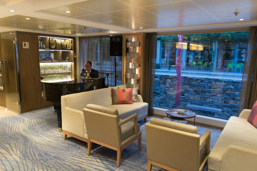 Back onboard, it's time to settle in the Viking Lounge...Photo © 2015 Aaron Saunders