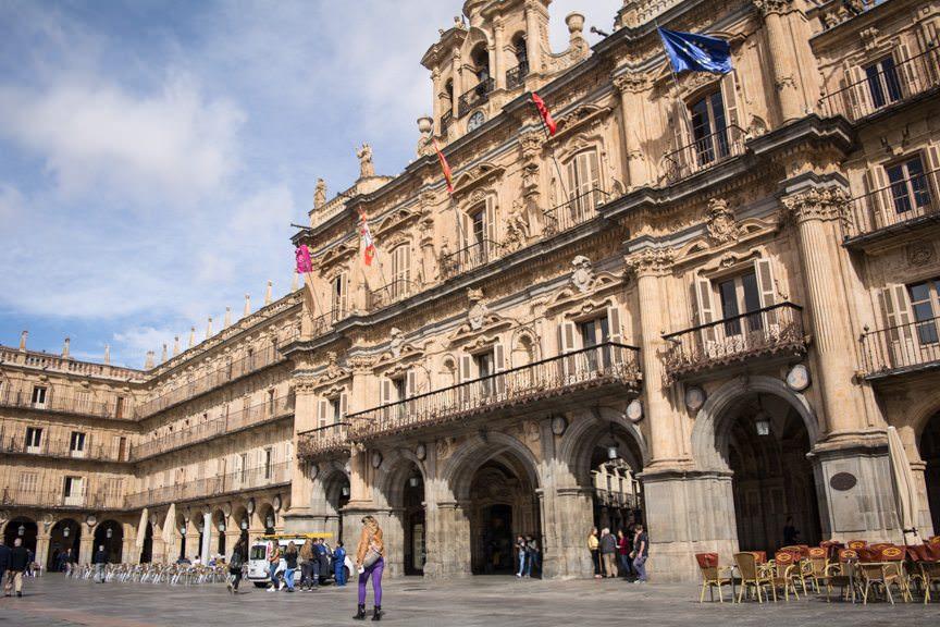 Plaza Mayor is eerily reminiscent of Piazza San Marco in Vienna. Photo © 2015 Aaron Saunders