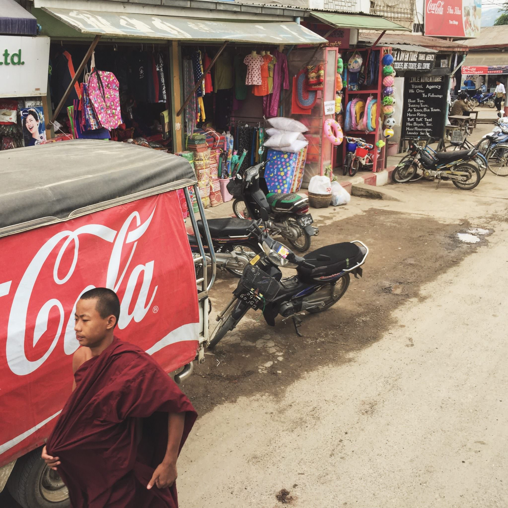 While there is very little western influence in Myanmar, it's beginning to creep in. © 2015 Gail Jessen