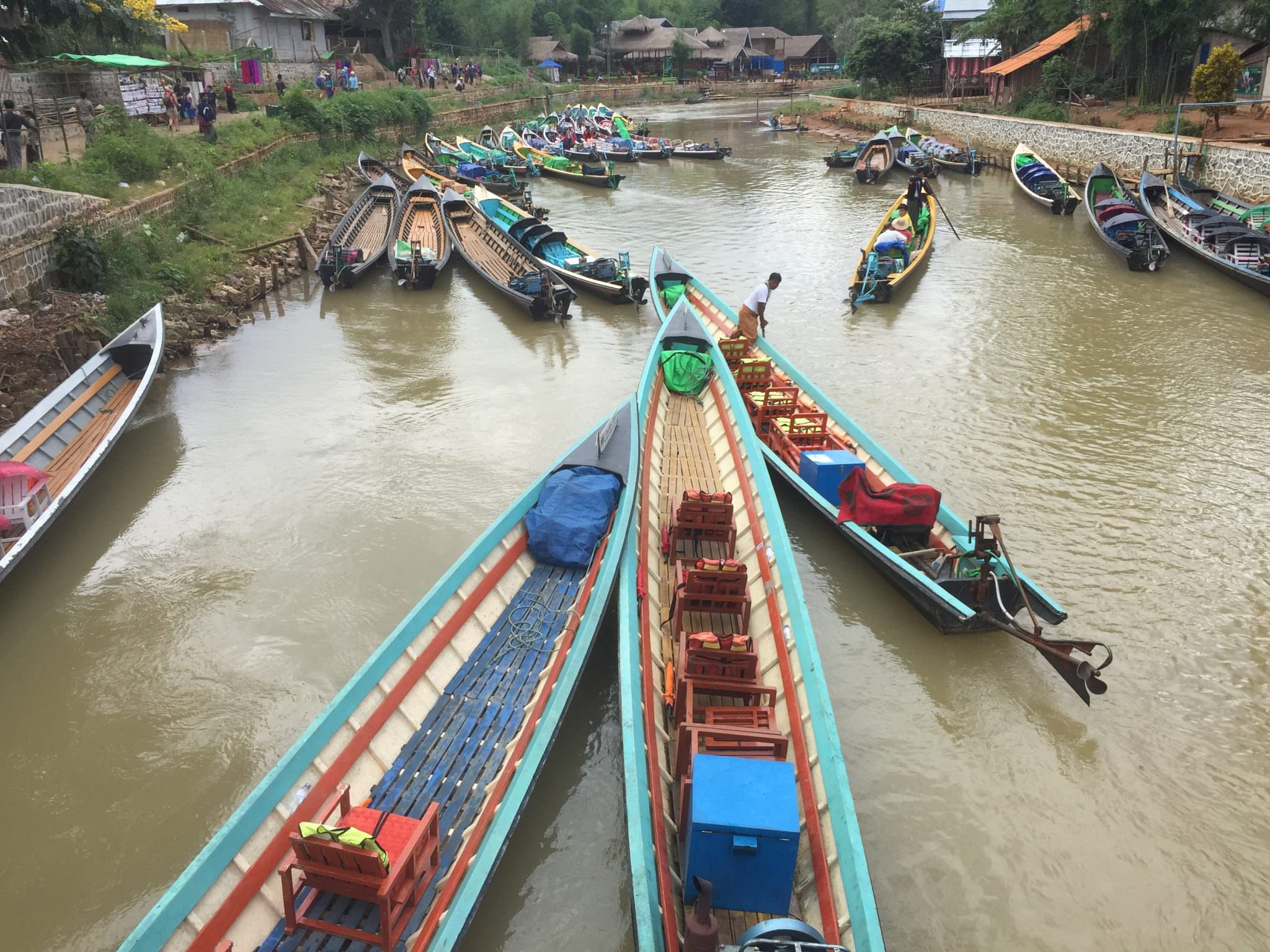 The Burmese Uber awaits. © 2015 Gail Jessen