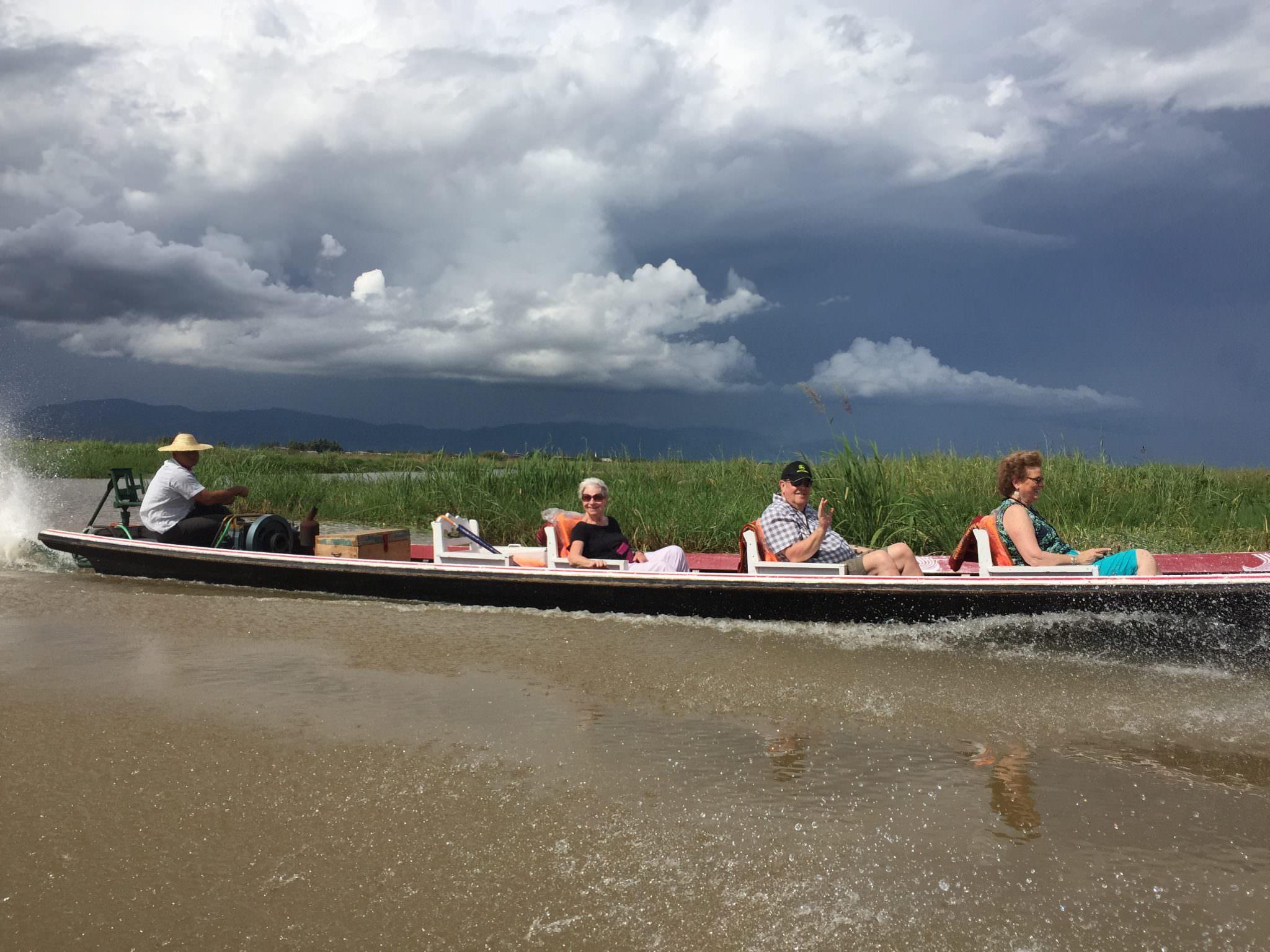 Fellow Viking passengers enjoy the ride around the lake. © 2015 Gail Jessen