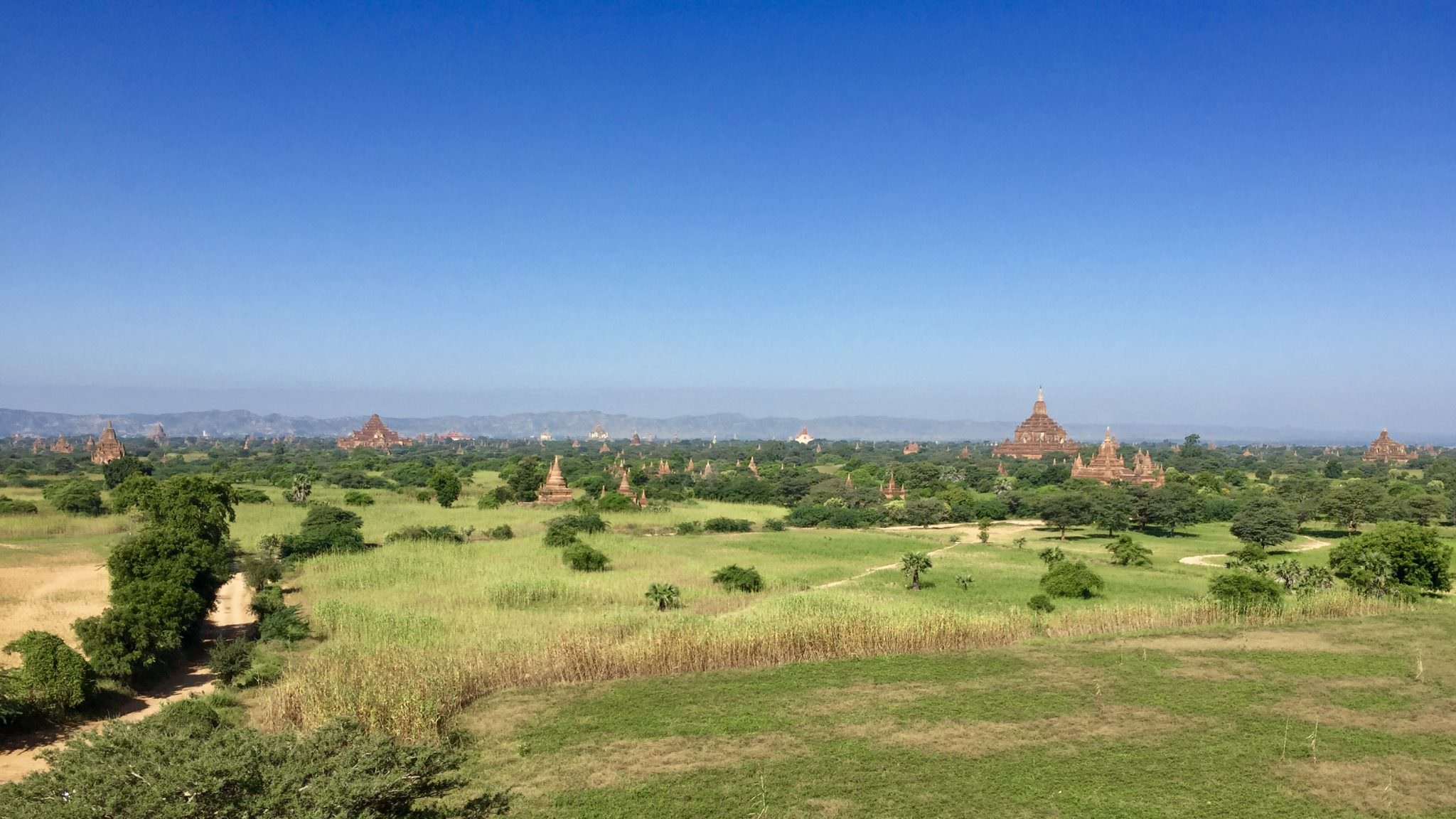 The ancient, iconic, breathtaking skyline of Bagan. © 2015 Gail Jessen