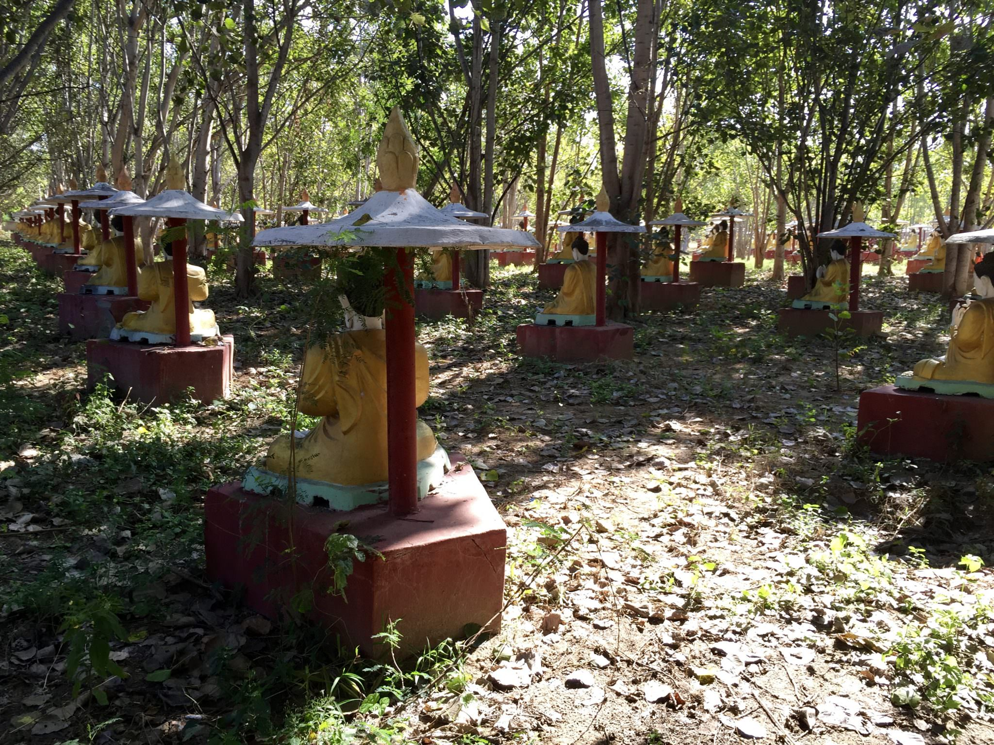 Row upon row upon row of Buddha statues. © 2015 Gail Jessen