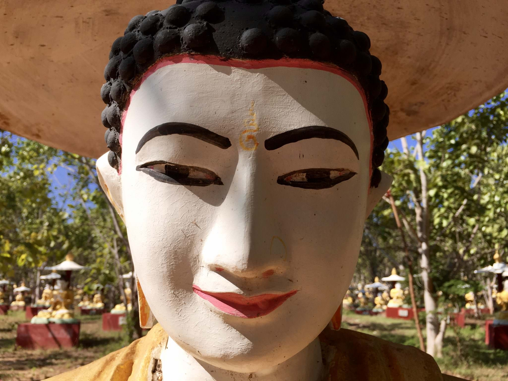 Detail of a statue in Monywa. © 2015 Gail Jessen