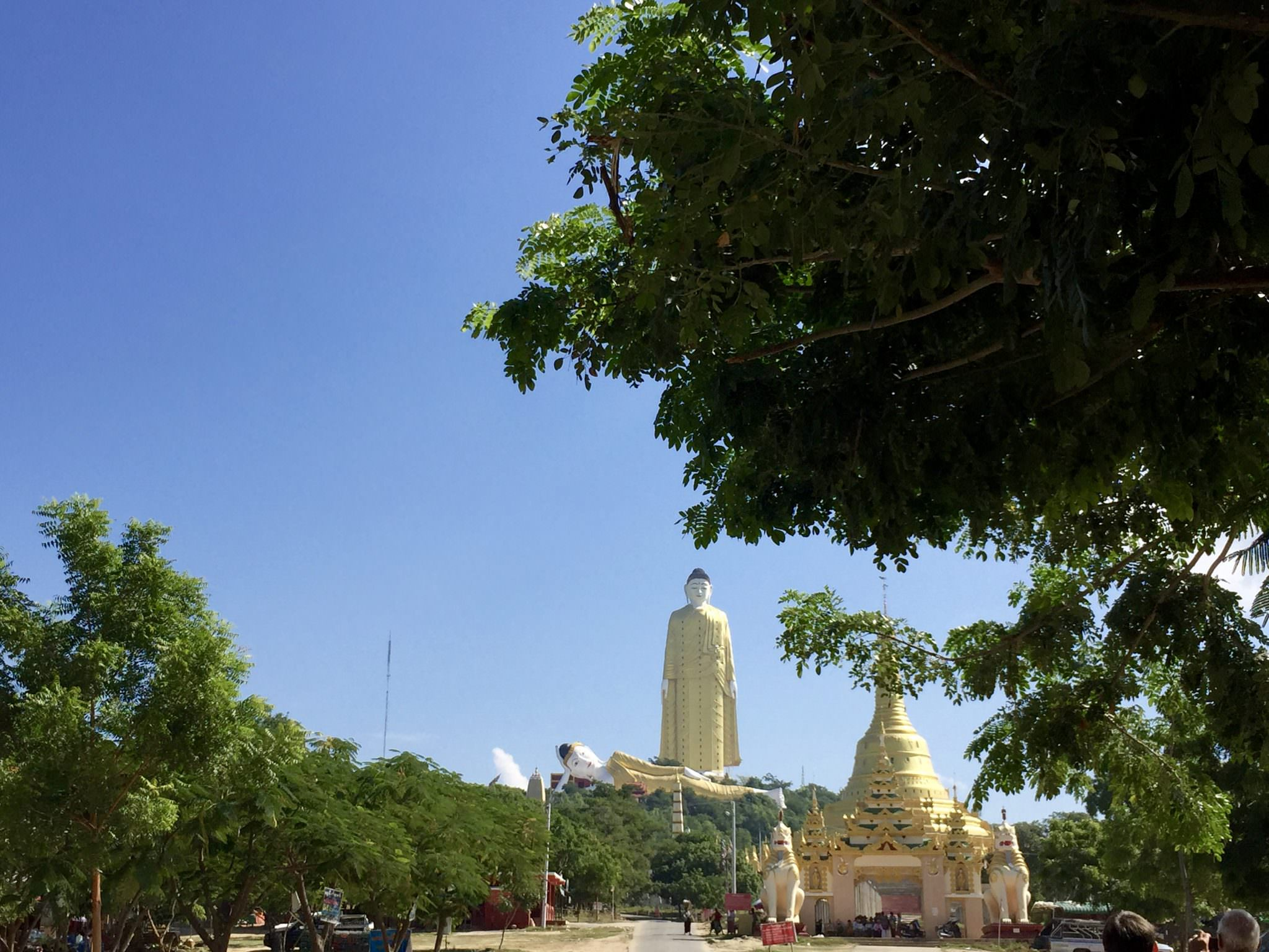 The Monywa buddhas, currently the largest Buddha statues in the world. © 2015 Gail Jessen