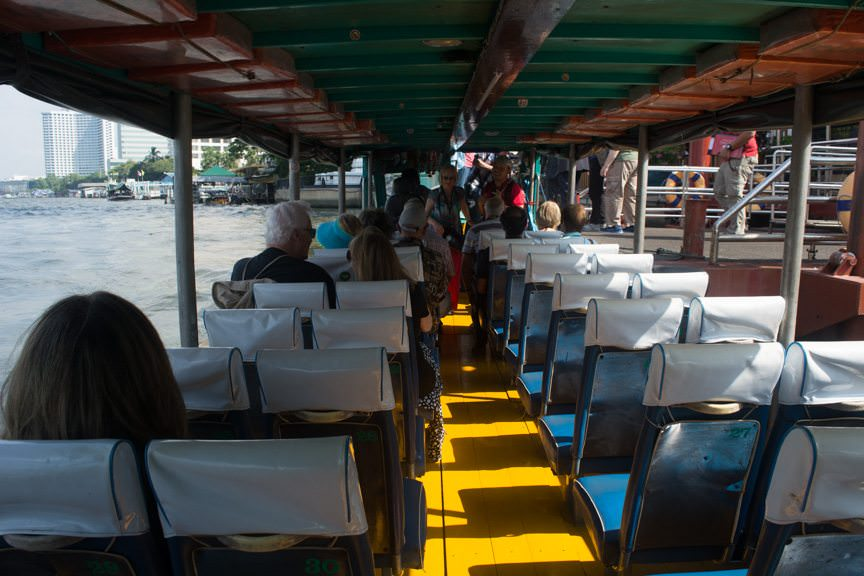 Boarding our water taxi...Photo © 2015 Aaron Saunders