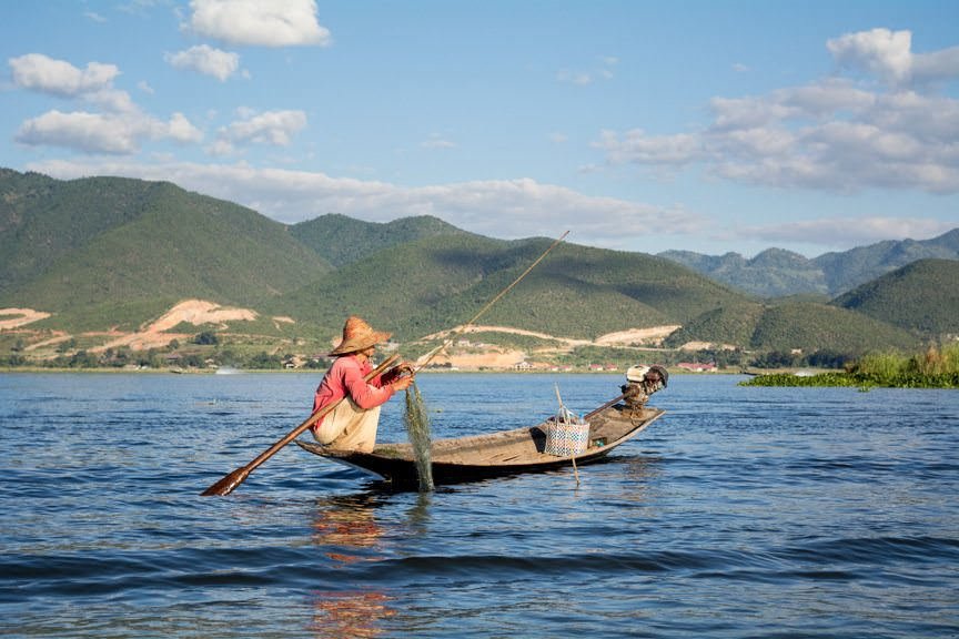There's nothing quite like Myanmar's Inle Lake. Photo © 2015 Aaron Saunders