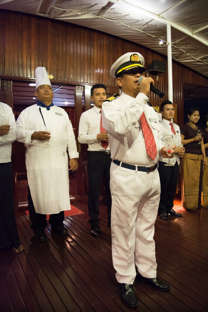 ...and our Captain and crew welcome us onboard! Photo © 2015 Aaron Saunders
