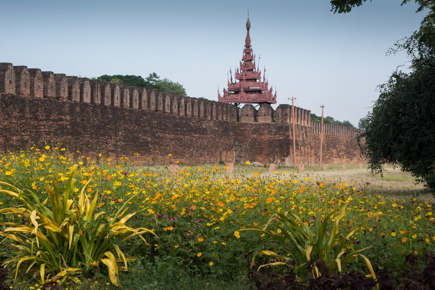 Our day of exploration in Mandalay, Myanmar with Viking River Cruises began with a tour of the (heavily reconstructed) Mandalay Palace. Photo © 2015 Aaron Saunders