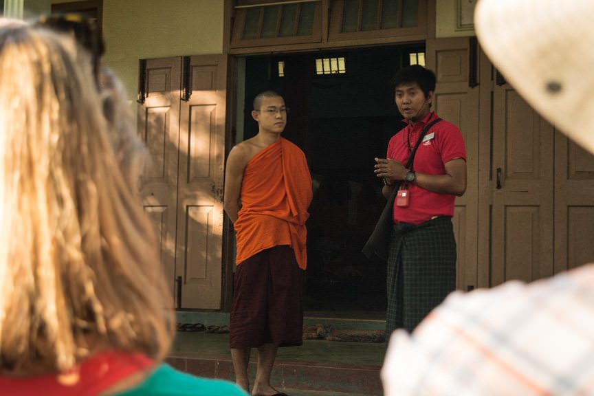 ...where a local monk answered our questions. Photo © 2015 Aaron Saunders