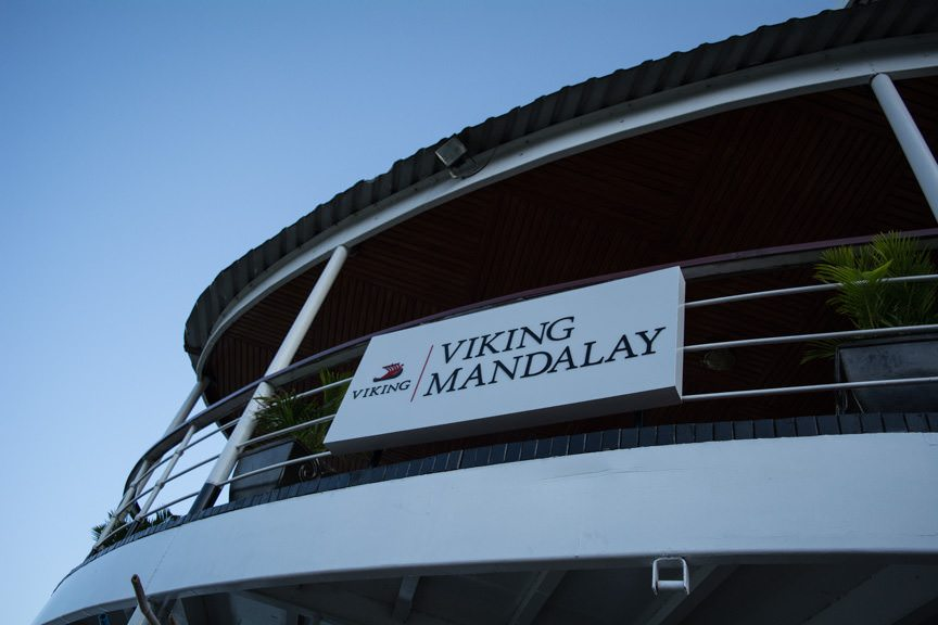 Viking Mandalay is actually the Indochina Pandaw, owned by Pandaw River Explorations and operated on long-term charter to Viking. Photo © 2015 Aaron Saunders