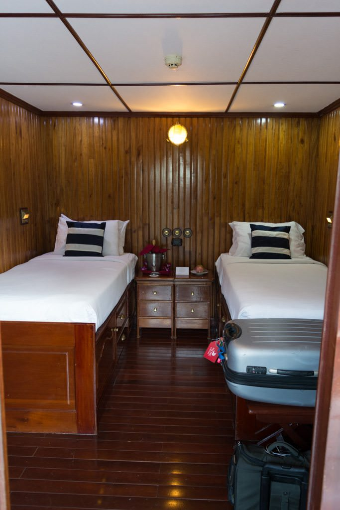 Welcome Home! Stateroom 307, in its standard configuration. Photo © 2015 Aaron Saunders