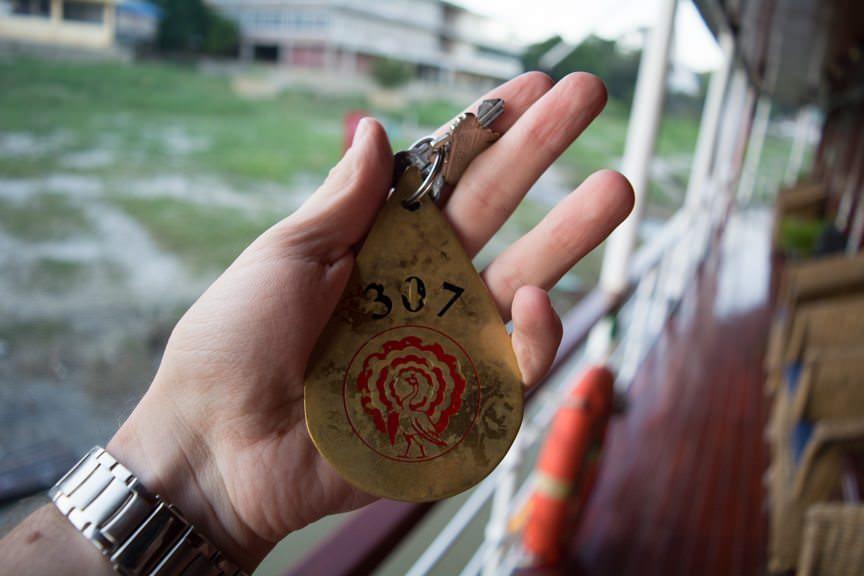 The Key To Room 307. Photo © 2015 Aaron Saunders
