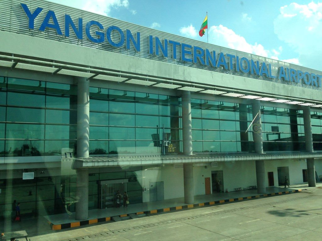 ...Yangon International Airport! Photo © 2015 Aaron Saunders