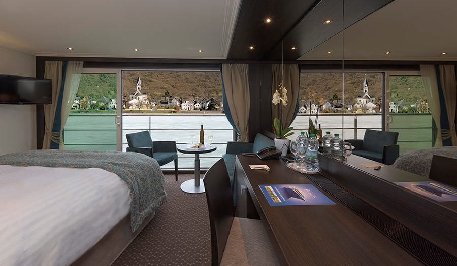Panorama Suite on the Avalon Tranquility II Panorama Suite. Photo Courtesy of Avalon Waterways.