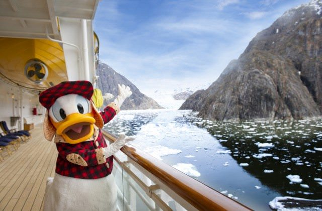 Donald Duck aboard Disney Wonder in Alaska. Disney's characters won't be a part of these new river cruises...but it's not a stretch to imagine Disney Cruise Line getting in on the river cruise arena if this new partership with AmaWaterways works out. Photo courtesy of Disney Cruise Line