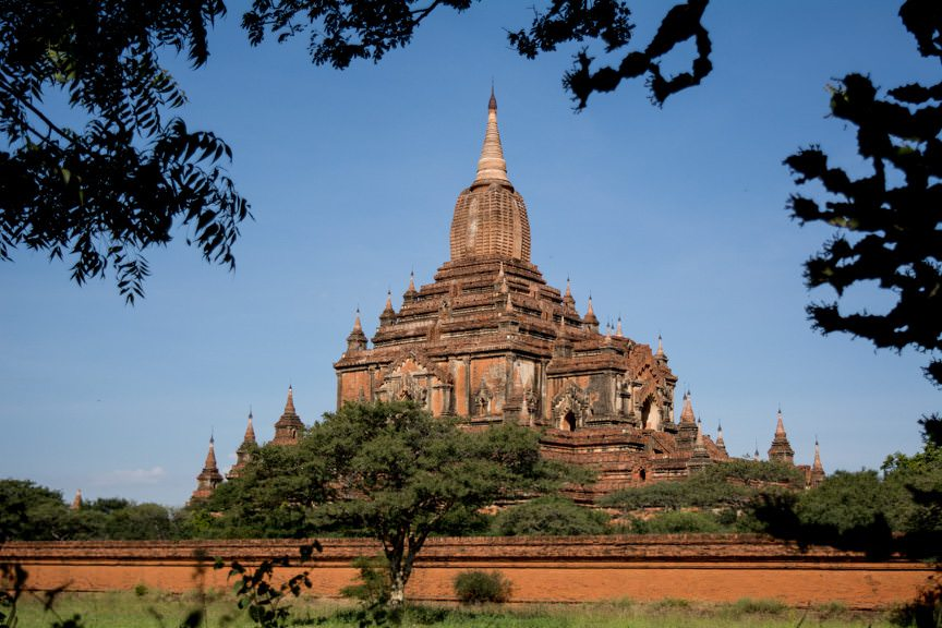 Welcome to Bagan - home to over 2,000 individual temples spread out over 70 square kilometres. Photo © 2015 Aaron Saunders
