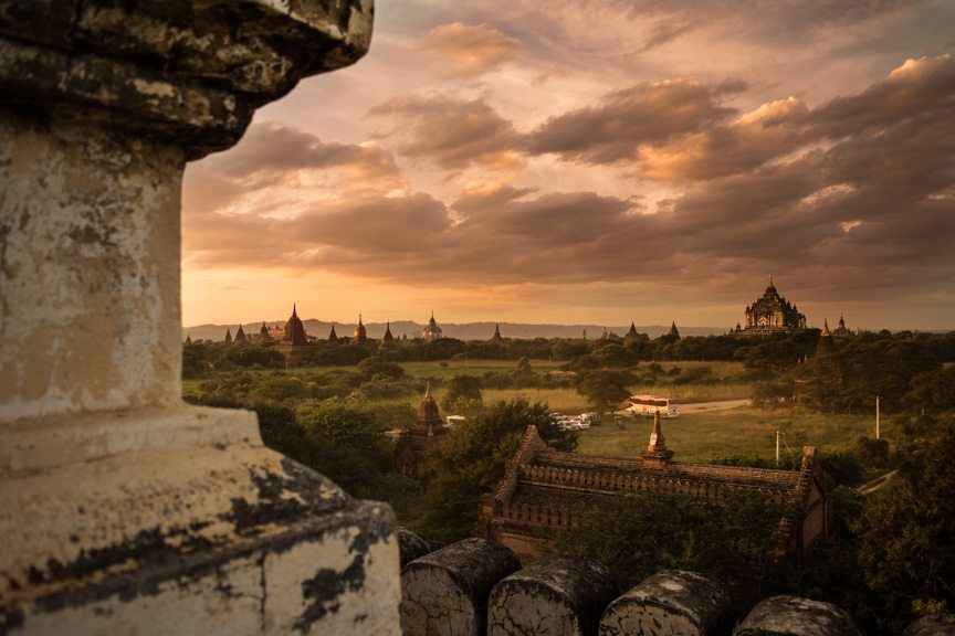 Today, we explored beautiful Bagan with Viking River Cruises - by day and by sunset. Photo © 2015 Aaron Saunders