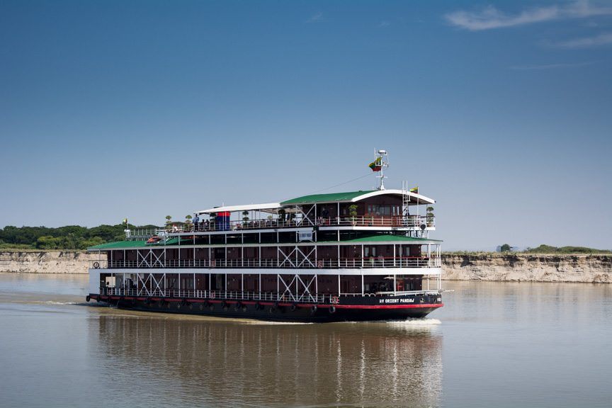 Passing another Pandaw ship...Photo © 2015 Aaron Saunders