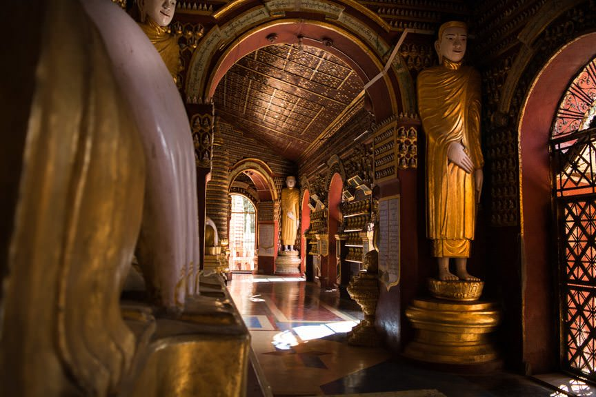 Welcome to Monywa, Myanmar - home to a temple that houses over 500,000 images of Buddha. Photo © 2015 Aaron Saunders