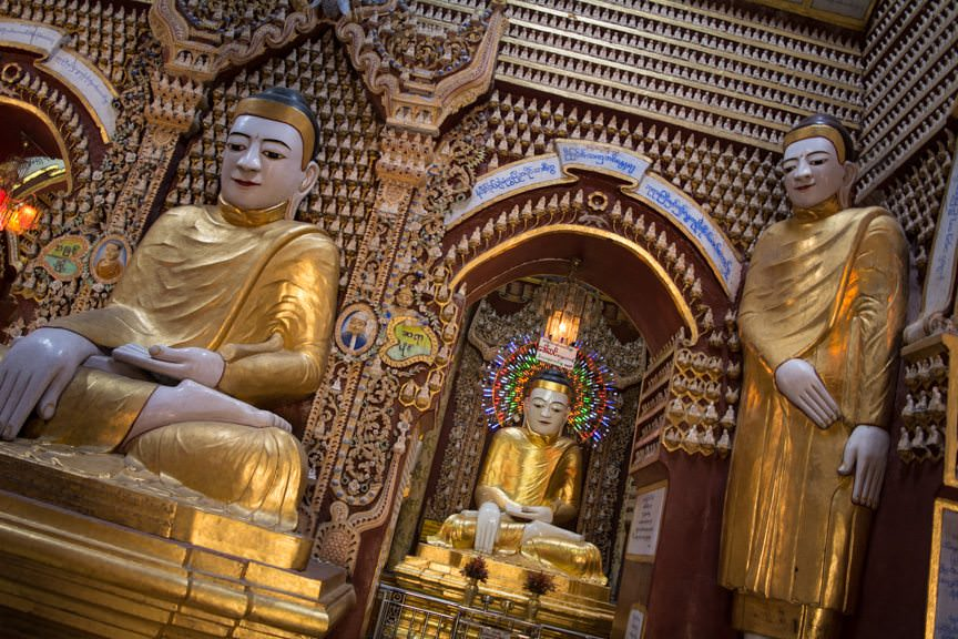 Inside, there are over 500,000 images of Buddha. Photo © 2015 Aaron Saunders