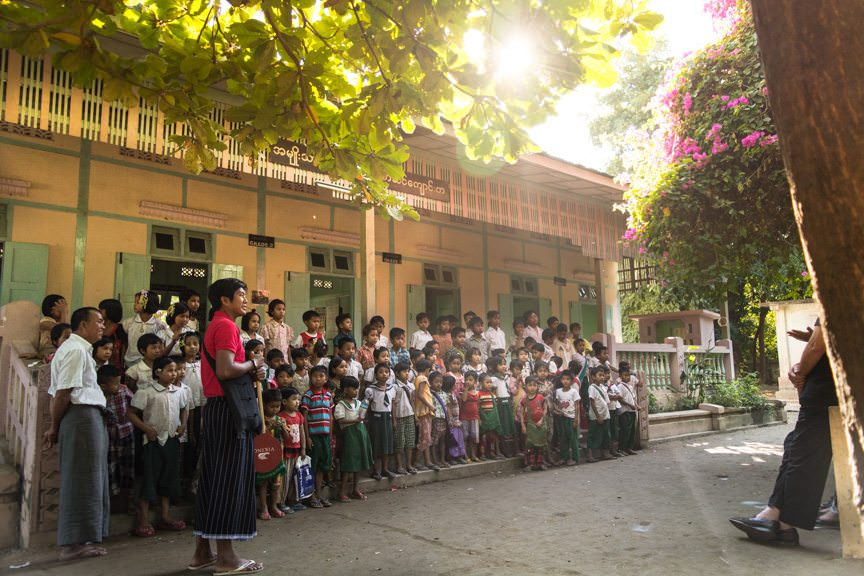 Today, we experienced the true magic of Myanmar with Viking River Cruises: the people. Photo © 2015 Aaron Saunders