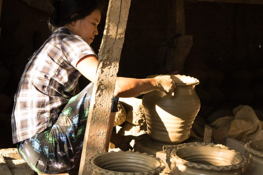 The village of Yandabo makes pottery, and we learned about its production today. Photo © 2015 Aaron Saunders