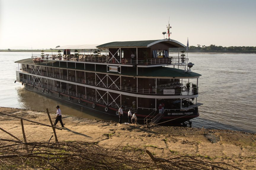 Viking Mandalay docked in Yandabo, Myanmar this afternoon. Photo © 2015 Aaron Saunders