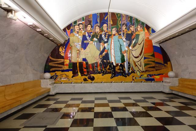 Art in Moscow's subways - © K.D. Leperi