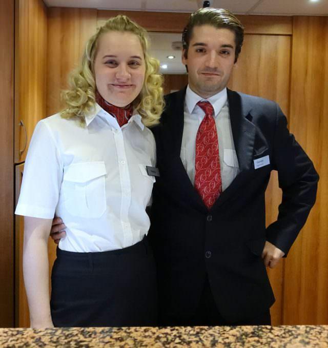 Receptionists Nadya and Georgy - © K.D. Leperi