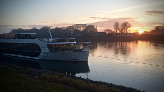 I ended the year cruising the AmaCerto, docked on December 31 in Mannheim before continuing on for New Year's Eve celebrations in Mainz, Germany. ©2015 Ralph Grizzle