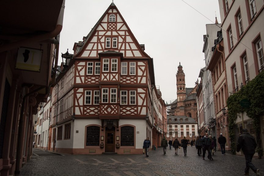 The historic Old Town center of Mainz. Photo © 2016 Aaron Saunders