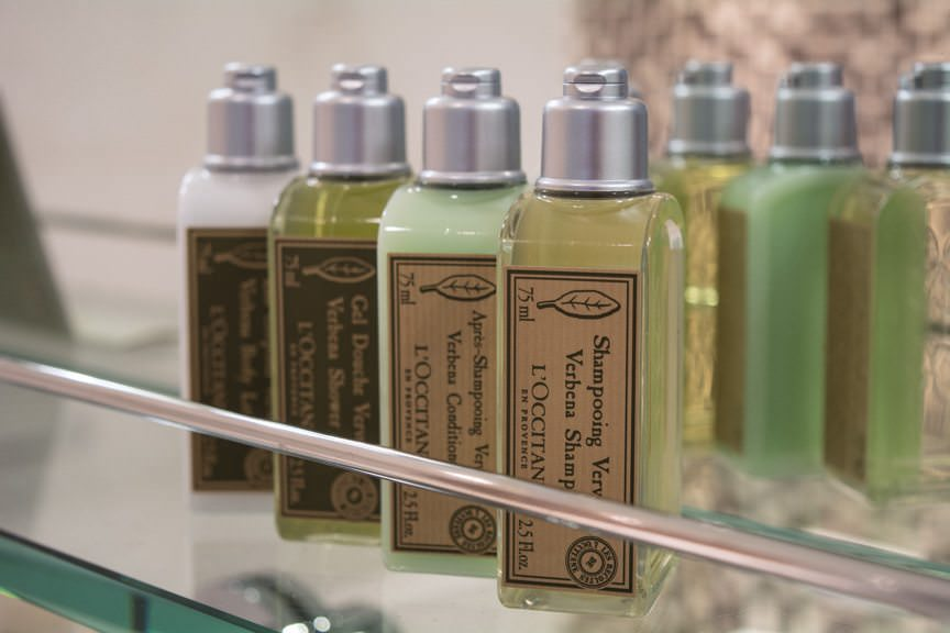 ...and L'Occitane toiletries. Photo © 2016 Aaron Saunders