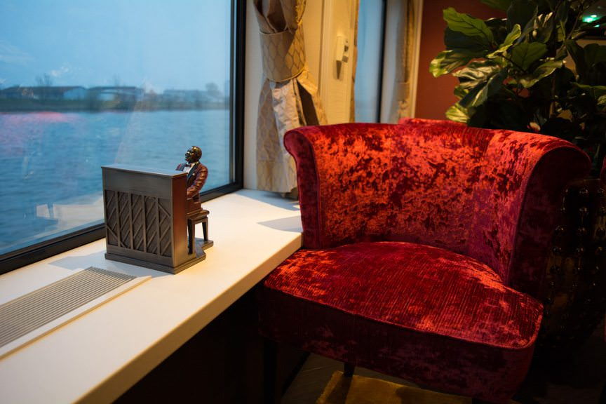 There's even little touches of jazz whimsy throughout the River Voyager. Photo © 2016 Aaron Saunders