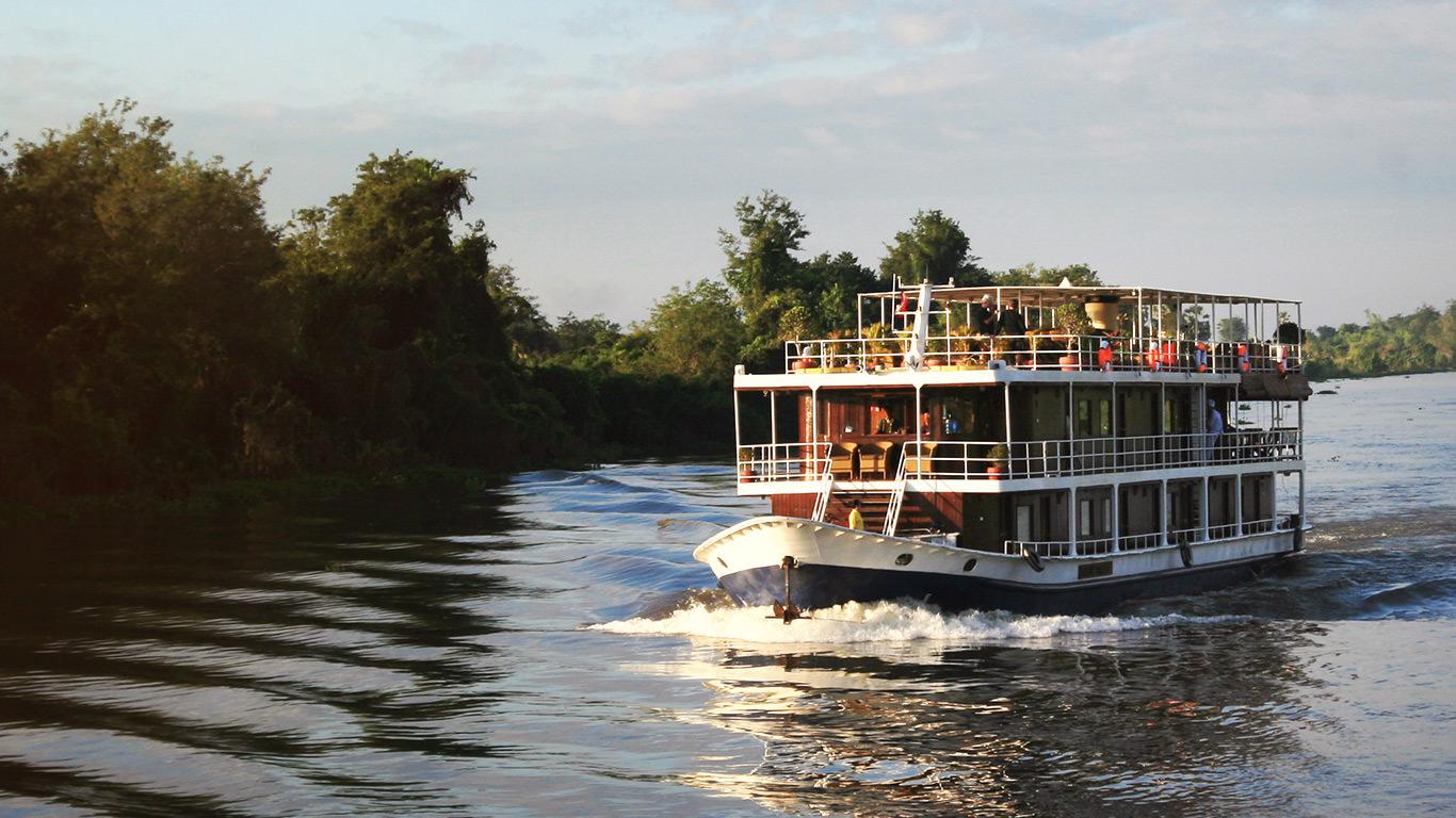 Toum Tiou 2 on the Mekong. Photo courtesy G Adventures